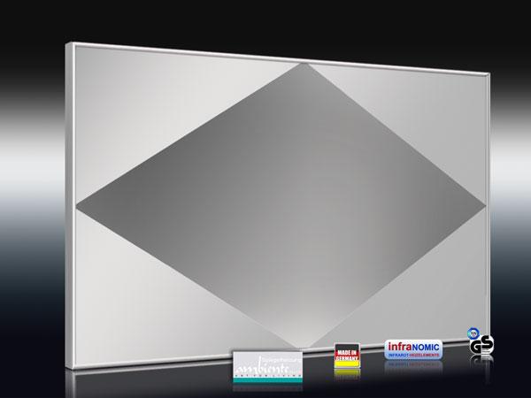 Spiegelheizung - mit Raute-Design sandgestrahlt