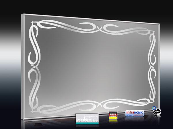 Spiegelheizungen mit Tribal-Design sandgestrahlt
