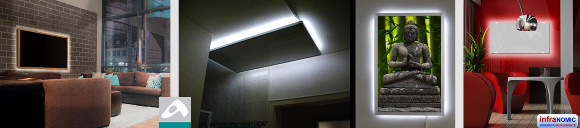 Zusätzliche LED Beleuchtung für alle Infrarotheizungen