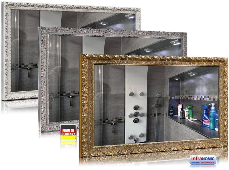 Infrarot Spiegelheizung mit Stilrahmen